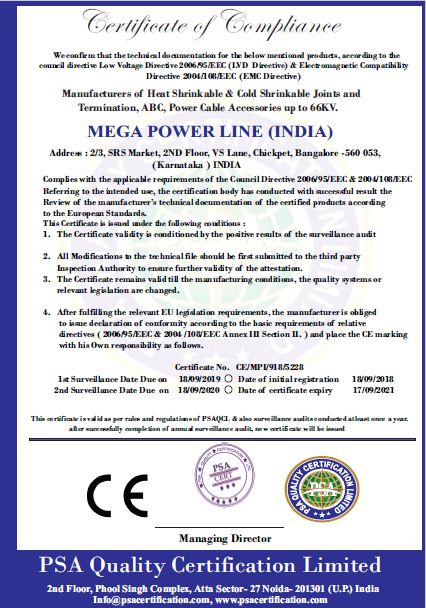 Mega Powerline | Awards and Certificates